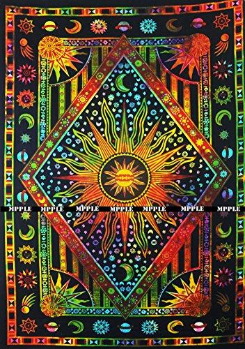 Feuchtigkeit-reichhaltige Hand-waschen (FUTURE HANDMADE Mandala-Wandteppich, Mandala-Motiv, Mehrfarbig, mit Sonnenmond, Bohemian-Stil, Größe 81 x 140 cm)