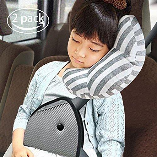 Rsprime seggiolino auto cuscino da viaggio per bambini, cintura di sicurezza poggiatesta poggiatesta dormire cuscino