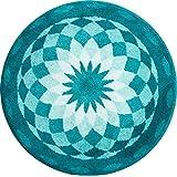 Grund m2670-045001311 Garten Der Stille - Mandala Runde Durchmesser 100 cm, Badteppich, Kunstfaser, Grün, 100 x 15 x 1, 8 cm