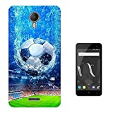 003225 - Football stadium illustration Sport Design Wiko Jerry 2 (2017) Fashion Trend Protecteur Coque Gel Silicone protection Case Coque