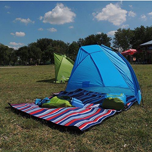 Outdoorer Strandmuschel Helios, blau, UV 60, extra leicht, Minipackmaß - 6
