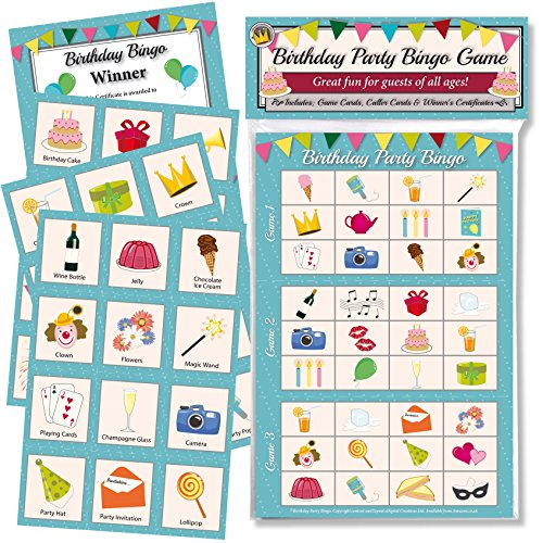 BIRTHDAY PARTY BINGO GAME