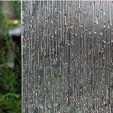 Fensterfolie Dekorfolie Sichtschutzfolie, statische Folie selbsthaftend (ohne Kleber), Rolle 45 x 200 cm