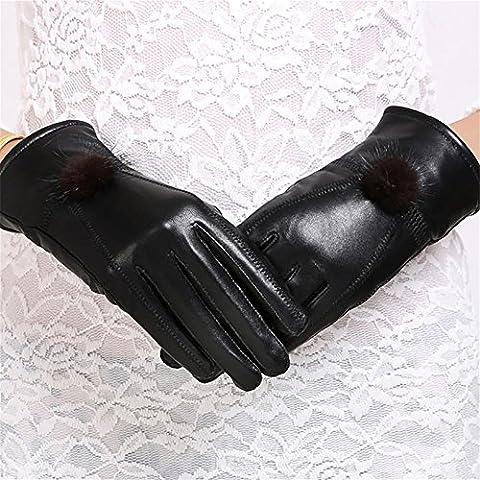 YONG Guanti in pelle Signore coreano / / sottile caldo guanti in pelle