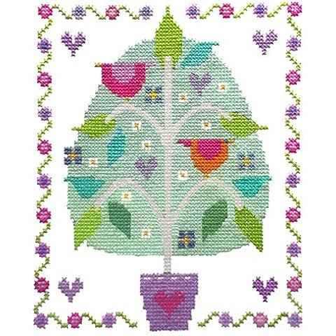 Le cuciture tettoia albero di amore kit punto croce
