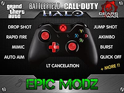 Epic Modz Xbox ONE Custom Red Modded Wireless Controller Cod Mod 3.5mm