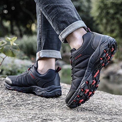72826b8f70f Dannto Zapatos Botas de Senderismo para Hombre Zapatos de Low Rise Trekking  Ocio al Aire Libre