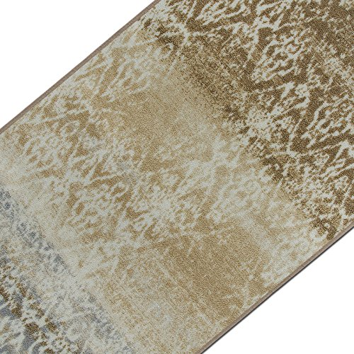 casa pura Vintage Teppichläufer | im angesagten Shabby Chic Look | hochwertige Meterware, gekettelt | Kurzflor Teppich Läufer | Küchenläufer, Flurläufer (Beige,80x200 cm)