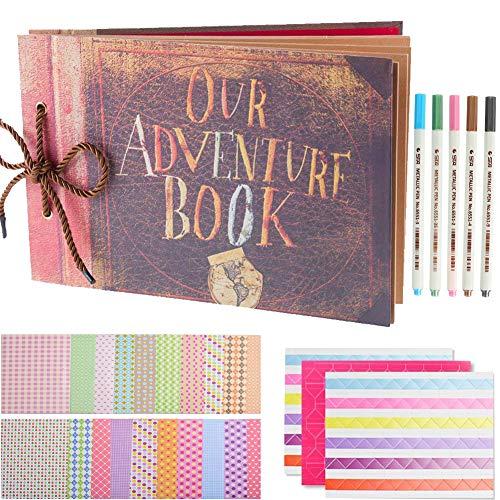 SAIKA Abenteuer Buch Pixar Up handgemachte DIY Familie Sammelalbum Fotoalbum Zubehör Set-Buch-Album, 5 x Textmarker, Corner Aufkleber und Film Aufkleber. -