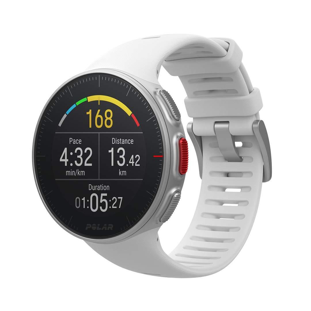 Polar Vantage V – Reloj premium con GPS y  Frecuencia Cardíaca, Multideporte y Perfil de Triatlón, Potencia de Running, Batería Ultra Larga, Resistente al Agua