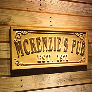 AdvPro Wood Custom wpa0353 Name Personalized PUB Bar Decoration Home Bar Gifts Wood Engraved Wooden Sign - Large 67.5 cm x 27.0 cm