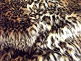 CRS Fur Fabrics Animal Fun Kunstfell Stoff Material – Baby Leopard