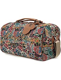 ililily Disney Mickey Mouse Vintage Pattern Weekender Duffle Travel Golf Bag