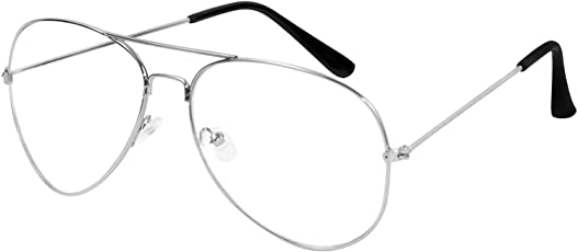 Y&S Fashion Aviator Unisex Eyeframe (Clear_ Transparent Aviator)