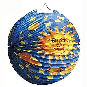 tib 13048 - Alternador redondo, diseño de luna/sol, multicolor, talla única