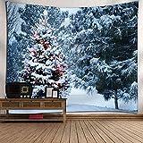 SEnjoyy Weihnachtsbaum Wandteppich Wandtuch Tapisserie Tagesdecke Wandbehang Tapestry Weihnachtsdeko