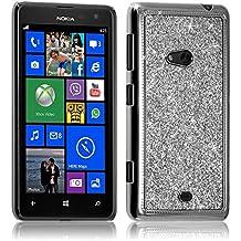 Seluxion - Housse Etui Coque Rigide pour Nokia Lumia 625 Style Paillette  Couleur Argent c000fe6e0a9