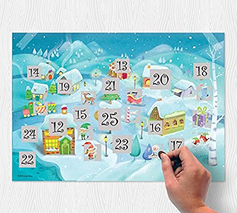 Scratch North Pole Advent Calendar - Scratch Off and Countdown to Christmas