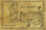 Game of Thrones - Antique Map - Fantasy Film Movie Poster - Größe 91,5x61 cm + 1 Ü-Poster der Grösse 61x91,5cm