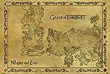 Póster de mapa antiguo de Juego de Tronos