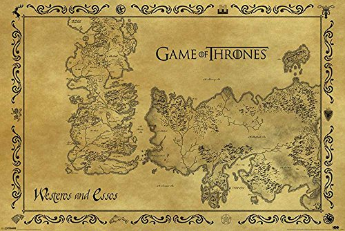 Empire Interactive - Poster Game of Thrones, mappa antica + accessori multicolore