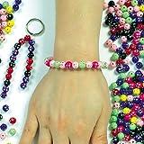 Glitzernde Perlen - für Kinder zum Basteln von Schmuck - Ketten - Armbändern - 250 Stück