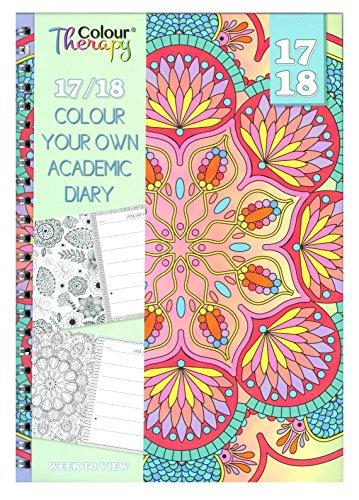 20172018A5Agenda scolaire avec couleur Thérapie Patterns