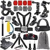 Vanwalk 20-in-1 Accessories Kit for Gopro HD Hero 4/3+/3/2/1 Camera, Head Belt Strap Mount + Chest Belt Strap Mount + Extendable Handle Monopod + Car Suction Cup Mount Holder + Floating Handle Grip