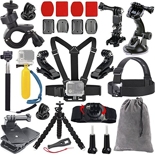 vanwalk-accessories-bundle-kit-for-gopro-hero-5-4-3-3-2-1-black-silver-camera-for-sj4000-sj5000-sj60
