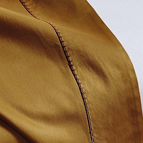 JIEJIEDE Satin bettwäsche,Leichte bettdecke hypoallergen atmungsaktiv knitterarm high-end-Stickerei für alle Jahreszeiten könig sizesolid Farbe-A 245x270cm(96x106inch) (106 Bettbezug 96 X)