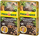 Floragard Schildkrötensubstrat 2x50l - natürliche Einstreu ohne Dünger - für Landschildkröten u. andere Reptilien - für Frühbeet, Überwinterung und für Terrarien - 100l
