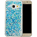 """Coque Samsung Galaxy A3 2017 Silicone Nnopbeclik® Paillettes Briller Style Backcover Doux Soft Transparente Housse pour Samsung Galaxy A3 2017 Coque Silicone (4.7 Pouce) Antichoc Protection Antiglisse Anti-Scratch Etui """"NOT FOR A3 2016/2015"""" - [Bleu3]"""