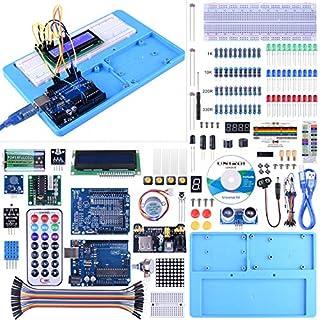 UNIROI UNOR3 Starter Kit für Arduino Anfänger, Upgraded Projekt Starter Kit für UNOR3 Roboter Nano Breadbroad Kit mit RAB Halter, Free Tutorials UA005
