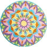 Grund m2679-042001329 Geburt - Mandala Runde Durchmesser 60 cm, Badteppich, Kunstfaser, Multi, 60 x 10 x 1, 8 cm