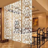 ELECTROPRIME 4x Butterfly Flower Hanging Screen Curtain Room Divider Partition Wall White