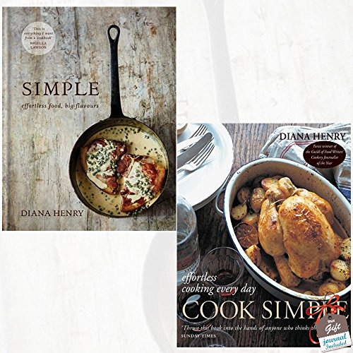 Simple effortless food big flavours [Hardcover] and Cook Simple Effortless cooking every day 2 Books Bundle Collection With Gift Journal