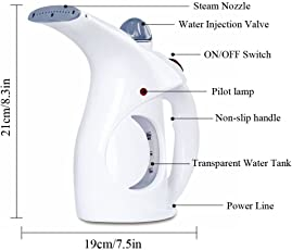 Shop4All Portable Handheld Garment Fabric and Facial Steamer (Colour May Vary)