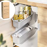 Baffect 2 pcs coulissant panier armoire organisateur pour cuisine salle de bains, tiroirs tiroirs sous évier placards organis