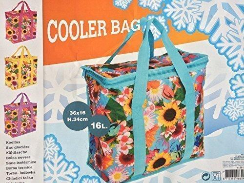16 Liter Kühltasche Kühlbox Picknicktasche Campingtasche Isoliertasche Tasche (Gelb) Rosa