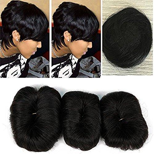 100% cheveux humains brésiliens vierges Cheveux courts Extensions Tissage 3 pcs Chaise longue transat Bresilienne 27 pièces + 1 gratuit Fermeture Couleur 2#