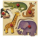 Selecta 62046 Zoo Holzpuzzle, 5 Teile