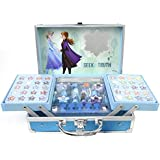 Frozen II Makeup Train Case - Maletín de Maquillaje de 2 Pisos - Set de Maquillaje para Niñas - Maquillaje Frozen - Neceser M