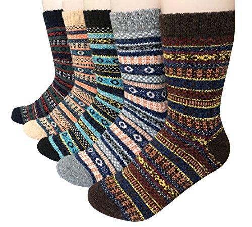 Vellette modische Socken fur Damen und Herren Baumwolle Woll Spitze und Ferse in verschiedenen Farben - Gr. 38-44 (Jungen-woll-socken)