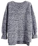 Bestfort Pullover Damen Outdoor Sweatshirt Lange Ärmel Baumwolle Rundhals Übergangs Wollpullover Herbst Winter