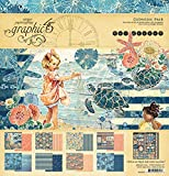 Graphic 45 12 x 12-Inch Sun Kissed Collection Pack, Paper, Multi-Colour, 34.6 x 30.5 x 0.5 cm