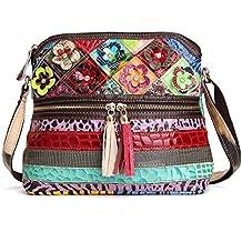 326d6e7da Bolso Crossbody de Moda, OURBAG Bolso de Cuero de Mujer Vintage Bolso de Hombro  Bolso