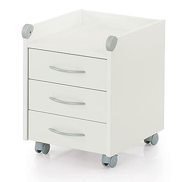 Rollcontainer holz weiß  Kettler Rollcontainer aus Holz – Schreibtisch Rollcontainer mit 3 ...