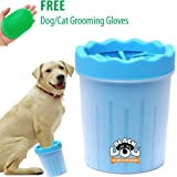 BLACK DOG Dog Grooming Foot/Paw Washing Cup, Pet Paw Cleaner, Portable Dog Washer with Feet Soft Silicone Bristles Small…