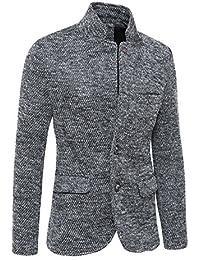 3fbe8681eb0cb Evoga Giacca Cappotto Uomo Invernale Tweed Grigio Casual Elegante Slim Fit
