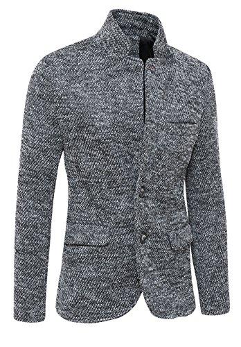 Evoga Giacca Cappotto Uomo Invernale Tweed Grigio Casual Elegante Slim Fit  (XL 9ccf8ccf752